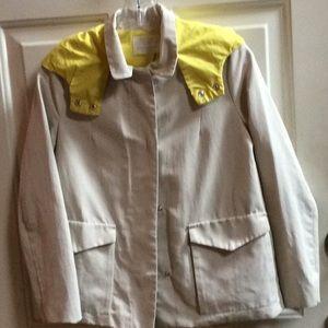 Zara girls nude jacket with yellow lining Sz 13-14